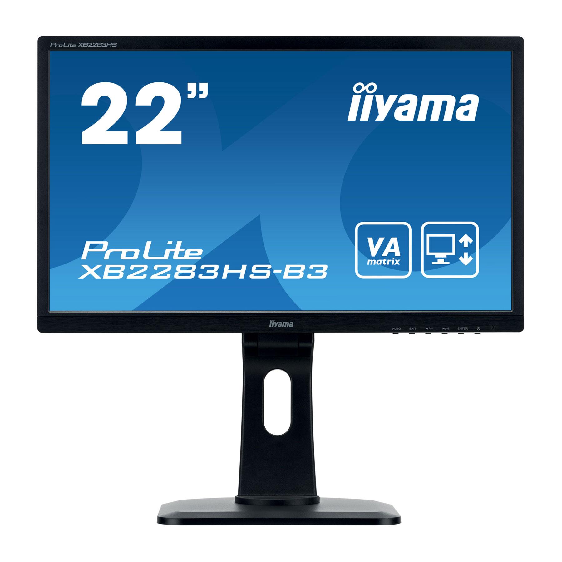 "Iiyama 22""  XB2283HS-B3 - Ecran PC Iiyama - Cybertek.fr - 0"