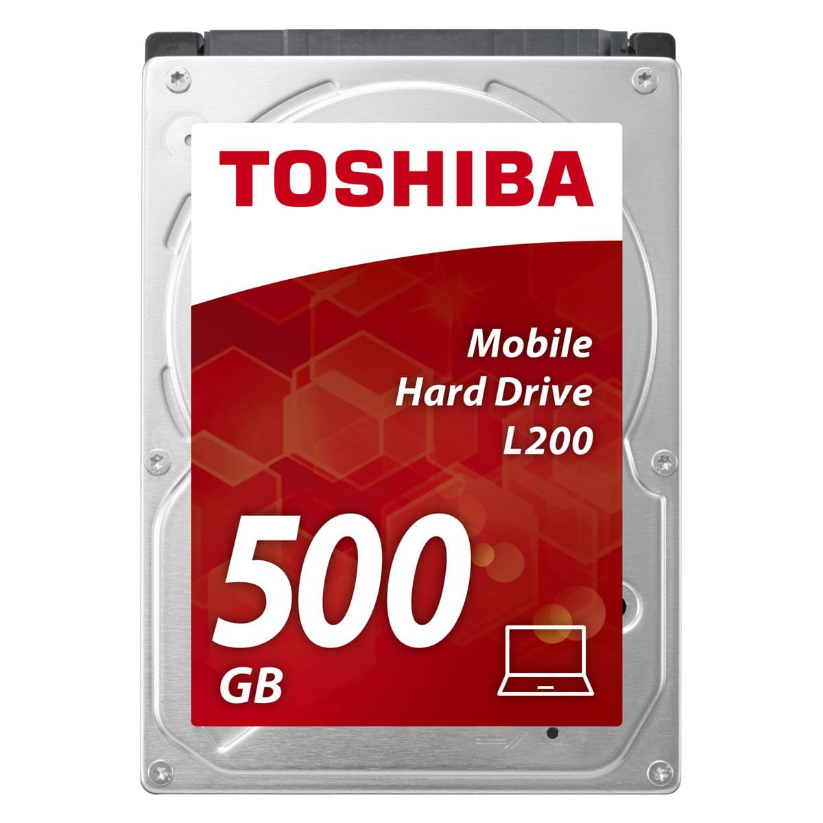 "Toshiba L200 Mobile 500Go 5400Tr SATAIII 8Mo 9,5mm - Disque dur interne 2.5"" - 1"