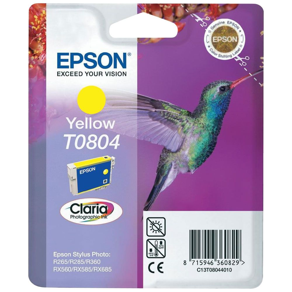 Epson Cartouche Claria T0804 Jaune (C13T080440) - Achat / Vente Consommable Imprimante sur Cybertek.fr - 0