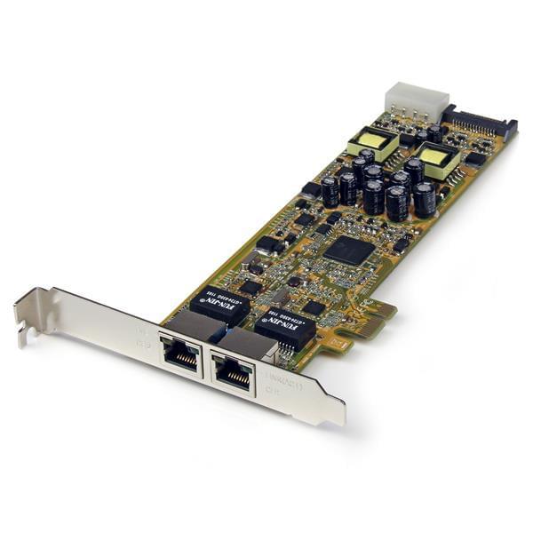StarTech PCI-E - 2 ports Gigabit PoE - ST2000PEXPSE - Carte réseau - 0