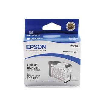 Cartouche Gris T580700 pour imprimante Jet d'encre Epson - 0