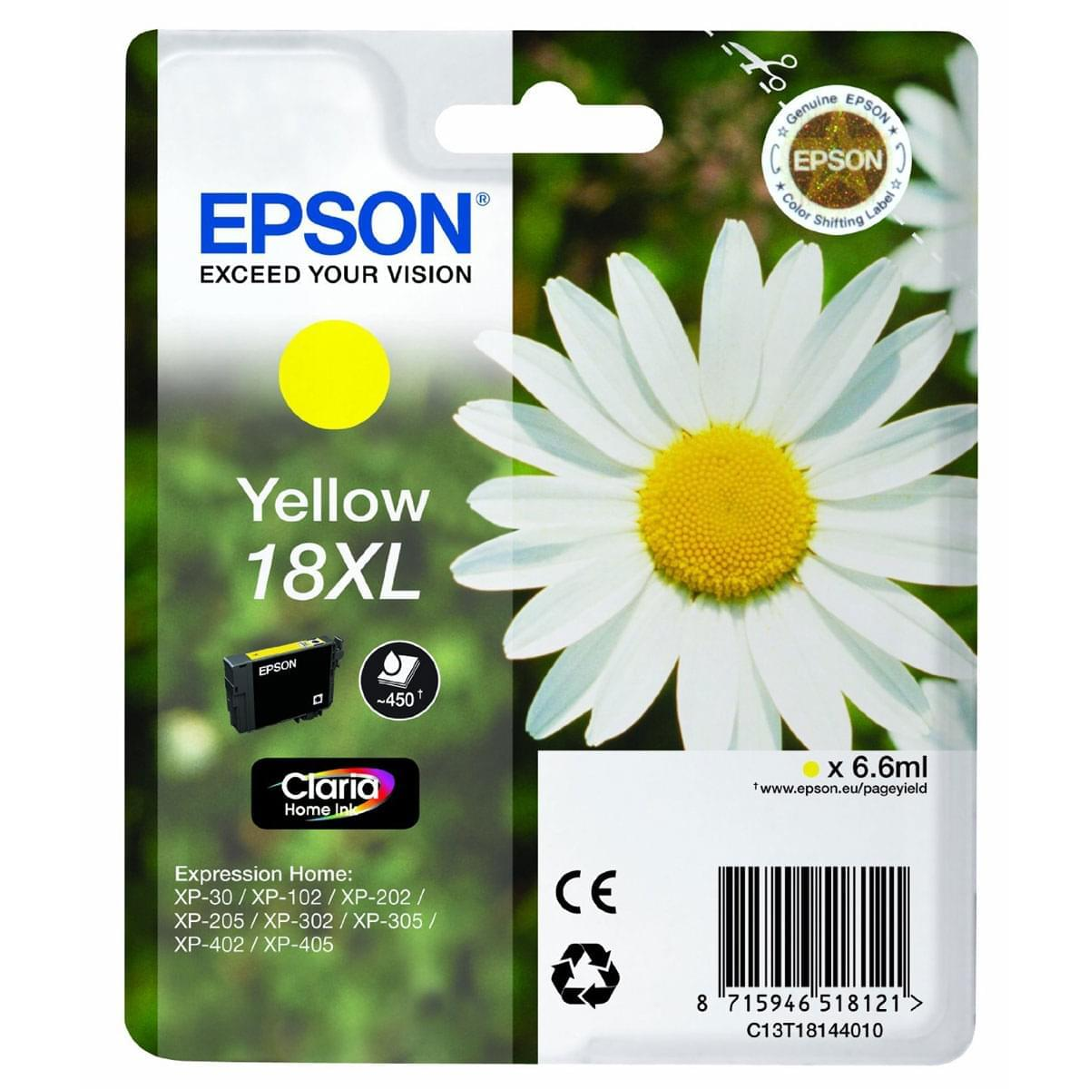 Epson Cartouche T1814 XL Jaune (C13T18144010) - Achat / Vente Consommable Imprimante sur Cybertek.fr - 0