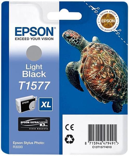 Cartouche T1577 Noir Clair pour imprimante Jet d'encre Epson - 0