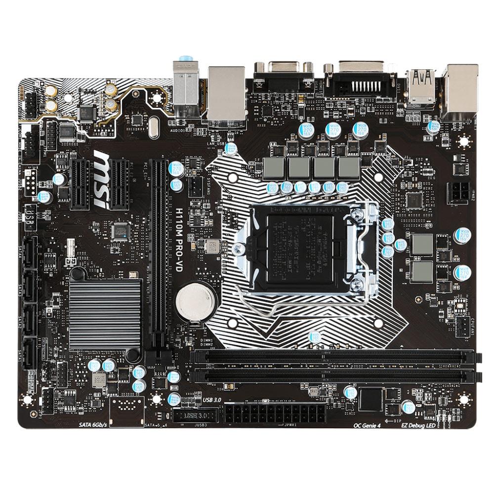 MSI H110M PRO-VD Micro-ATX DDR4 - Carte mère MSI - Cybertek.fr - 1