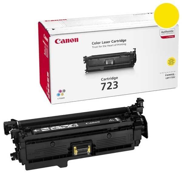 Canon Toner CRG 723 Jaune 8500p (2641B002) - Achat / Vente Consommable Imprimante sur Cybertek.fr - 0