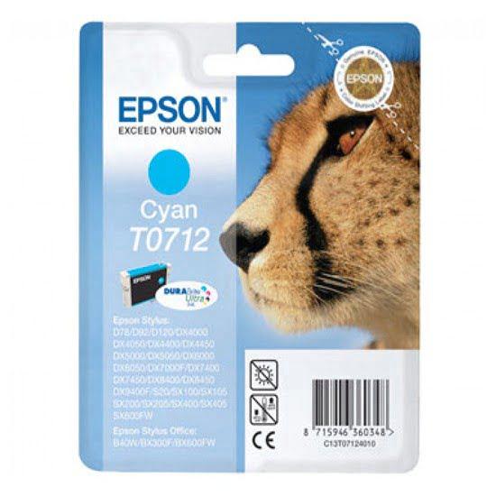 Cartouche DURABrite T0712 Cyan pour imprimante Jet d'encre Epson - 0