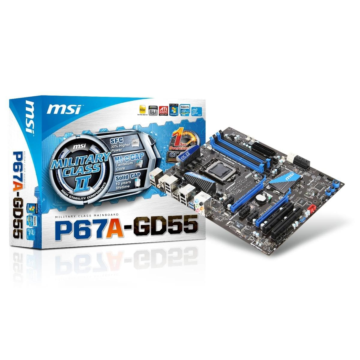 MSI P67A-GD55 G3 (P67A-GD55(B3) obso) - Achat / Vente Carte Mère sur Cybertek.fr - 0