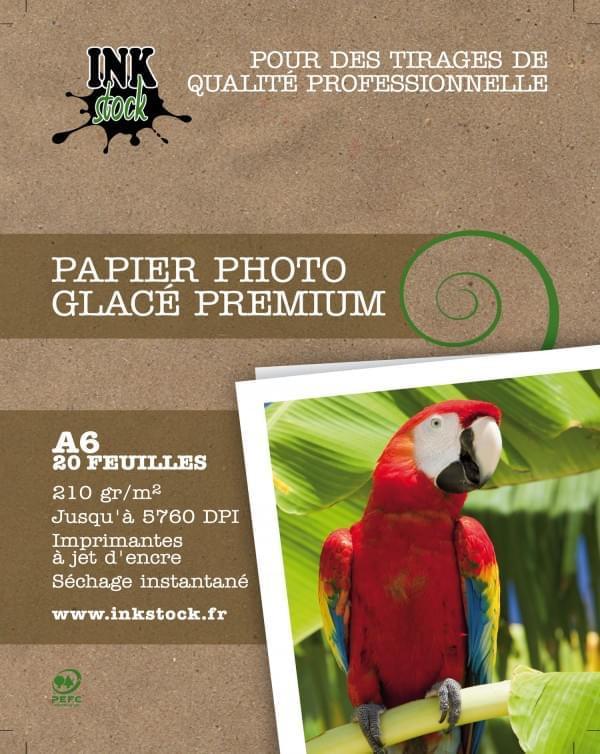 Papier Photo Glacé Premium 10x15 20f. 210Gr - InkStock - 0