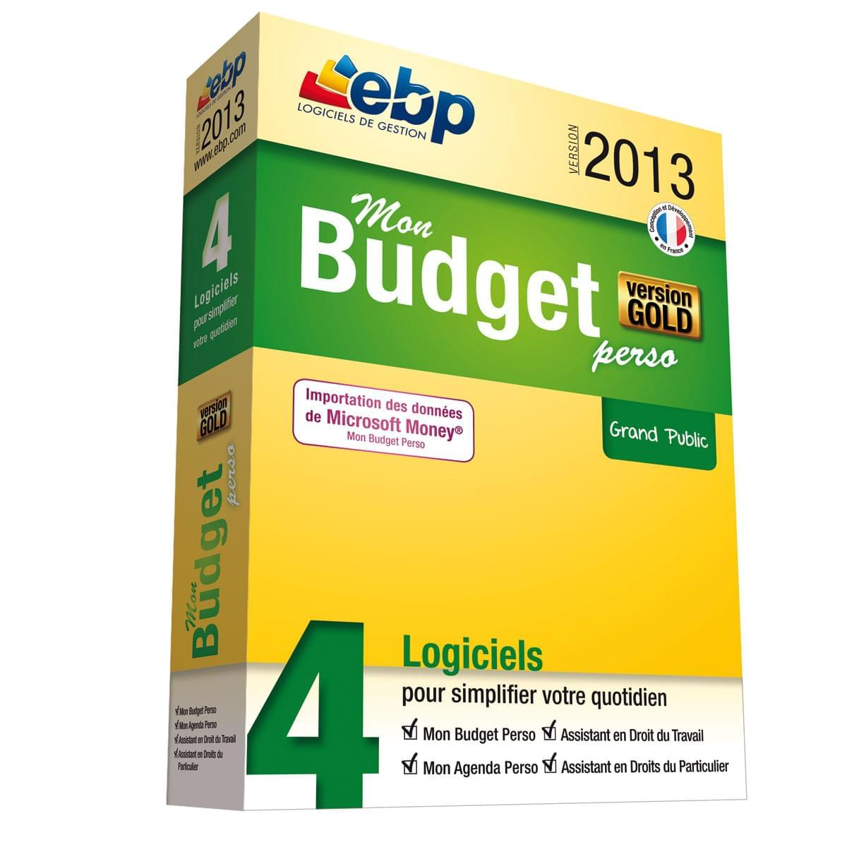 EBP Mon Budget Perso GOLD 2013 (1181E130FAA) - Achat / Vente Logiciel application sur Cybertek.fr - 0