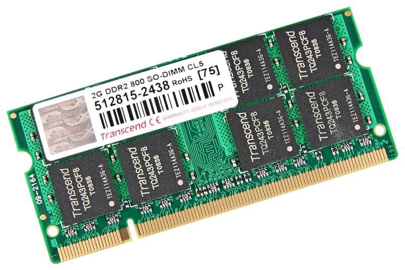 Transcend SO-DIMM 2Go DDR2 FSB800 JM800QSU-2G           (JM800QSU-2G          ) - Achat / Vente Mémoire PC portable sur Cybertek.fr - 0