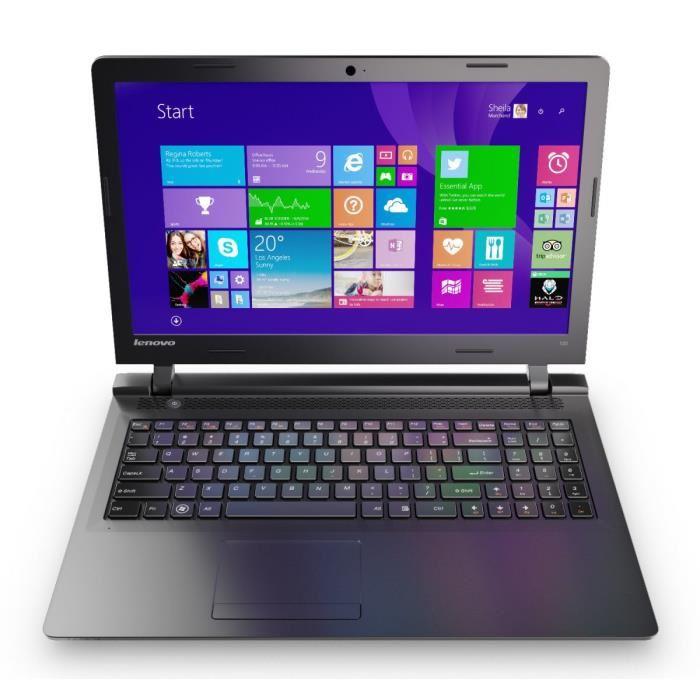 Lenovo Ideapad 100-15IBD (80QQ00SKFE) - Achat / Vente PC Portable sur Cybertek.fr - 1