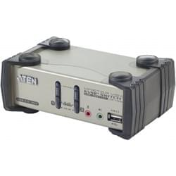 Aten Commutateur et Splitter 2UC-1 Ec&Cl&So USB/PS2 + audio - CS1732 Cybertek