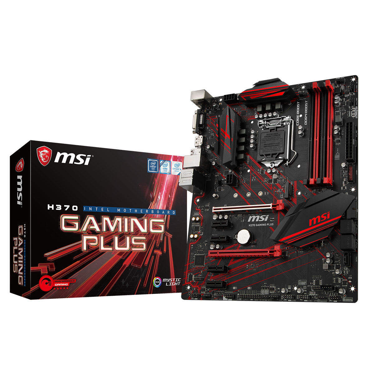 MSI H370 GAMING PLUS ATX DDR4 - Carte mère MSI - Cybertek.fr - 0