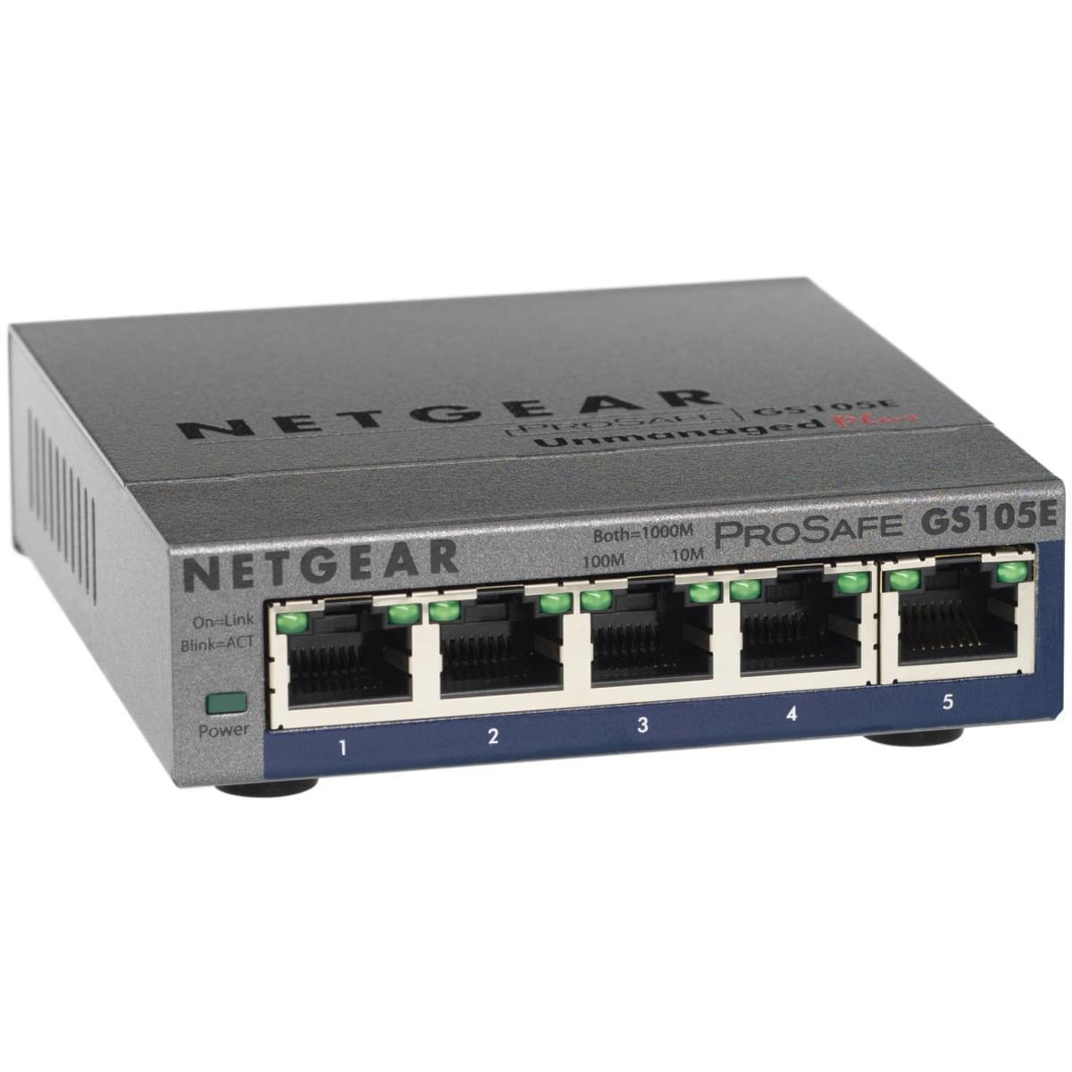 Switch Netgear 5 ports 10/100/1000 GS105E v2 - Cybertek.fr - 0