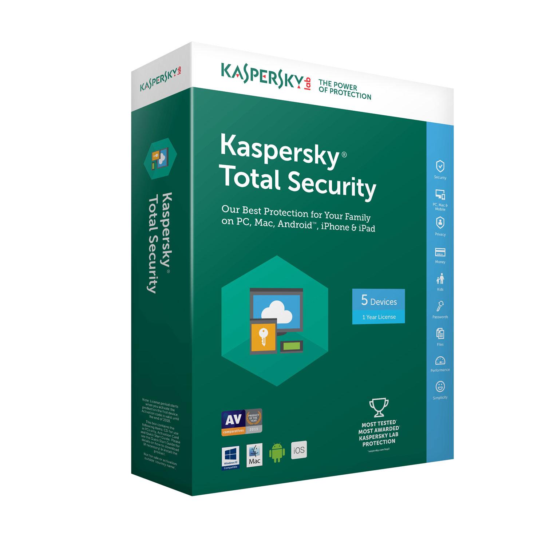 Kaspersky Total Security 2018 - 1 An / 5 PC - Logiciel sécurité - 0