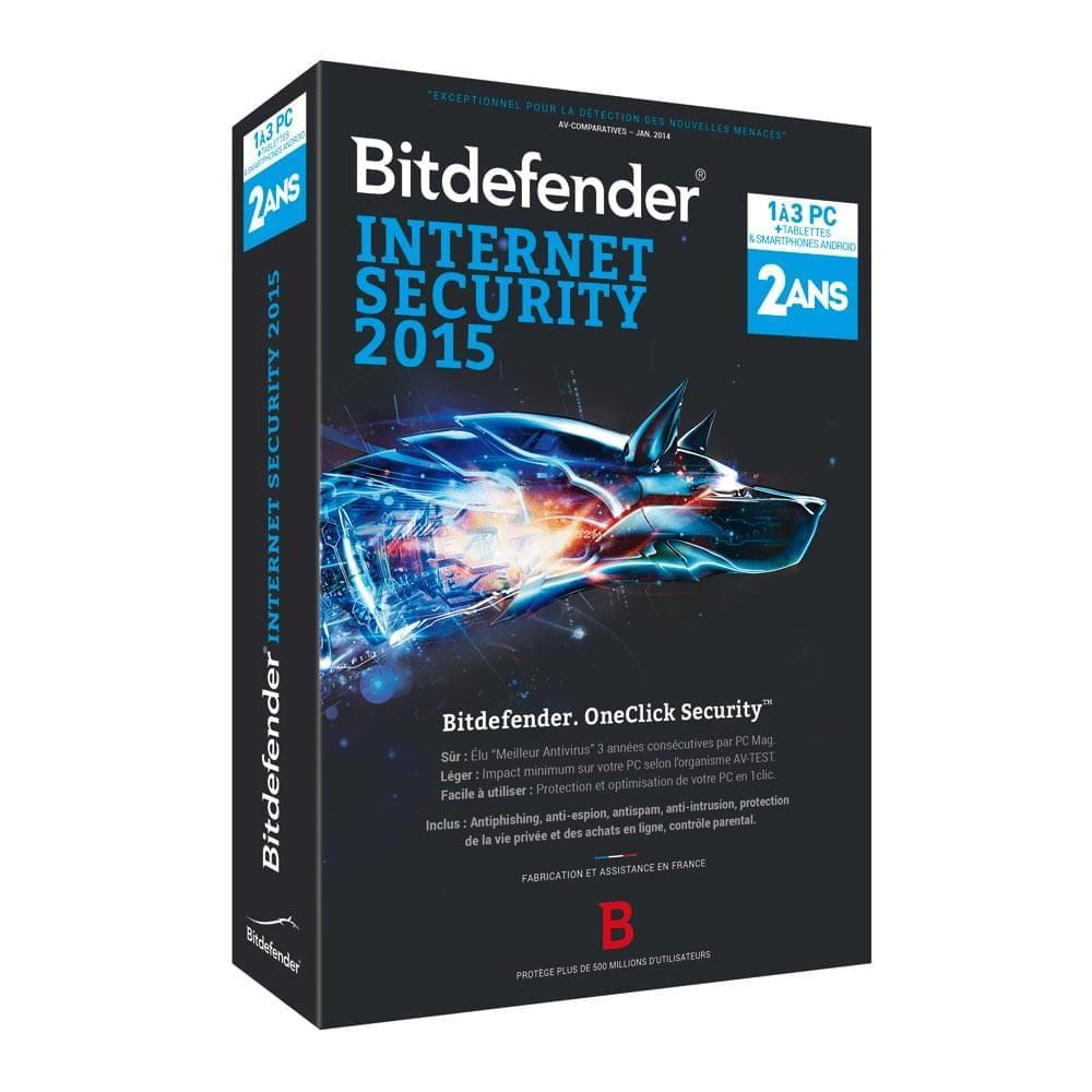 Bitdefender Internet Security 2015 (B-FBDIS-5X2P003) - Achat / Vente Logiciel sécurité sur Cybertek.fr - 0