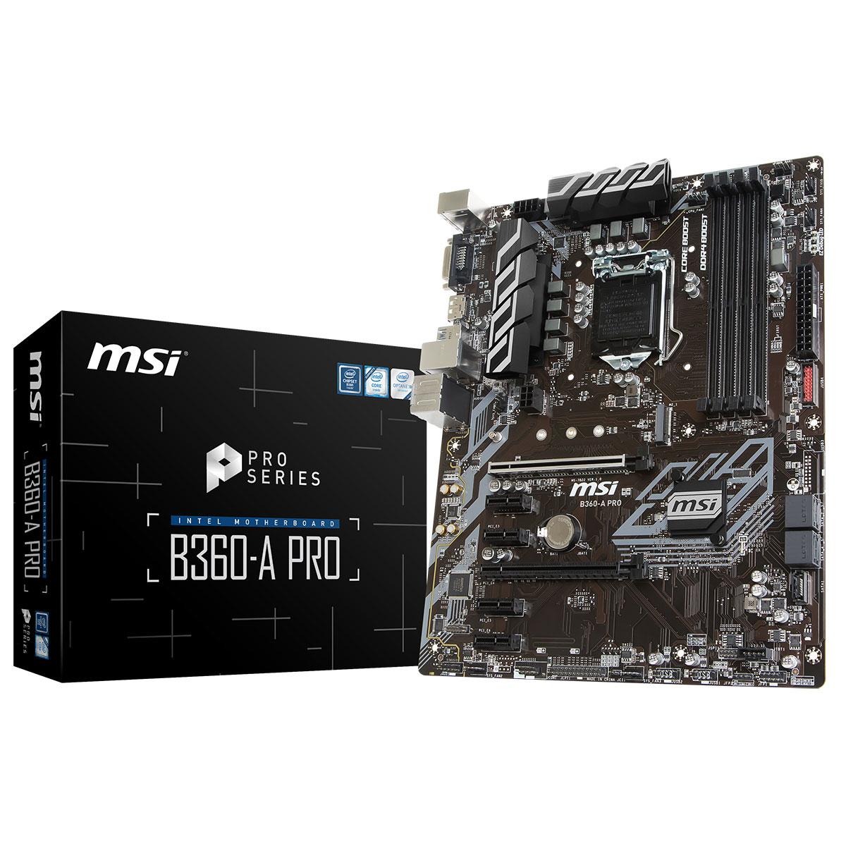 MSI B360-A PRO ATX DDR4 - Carte mère MSI - Cybertek.fr - 0
