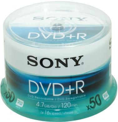 Sony DVD+R Vierge 4.7Go (pack de 50) - 0