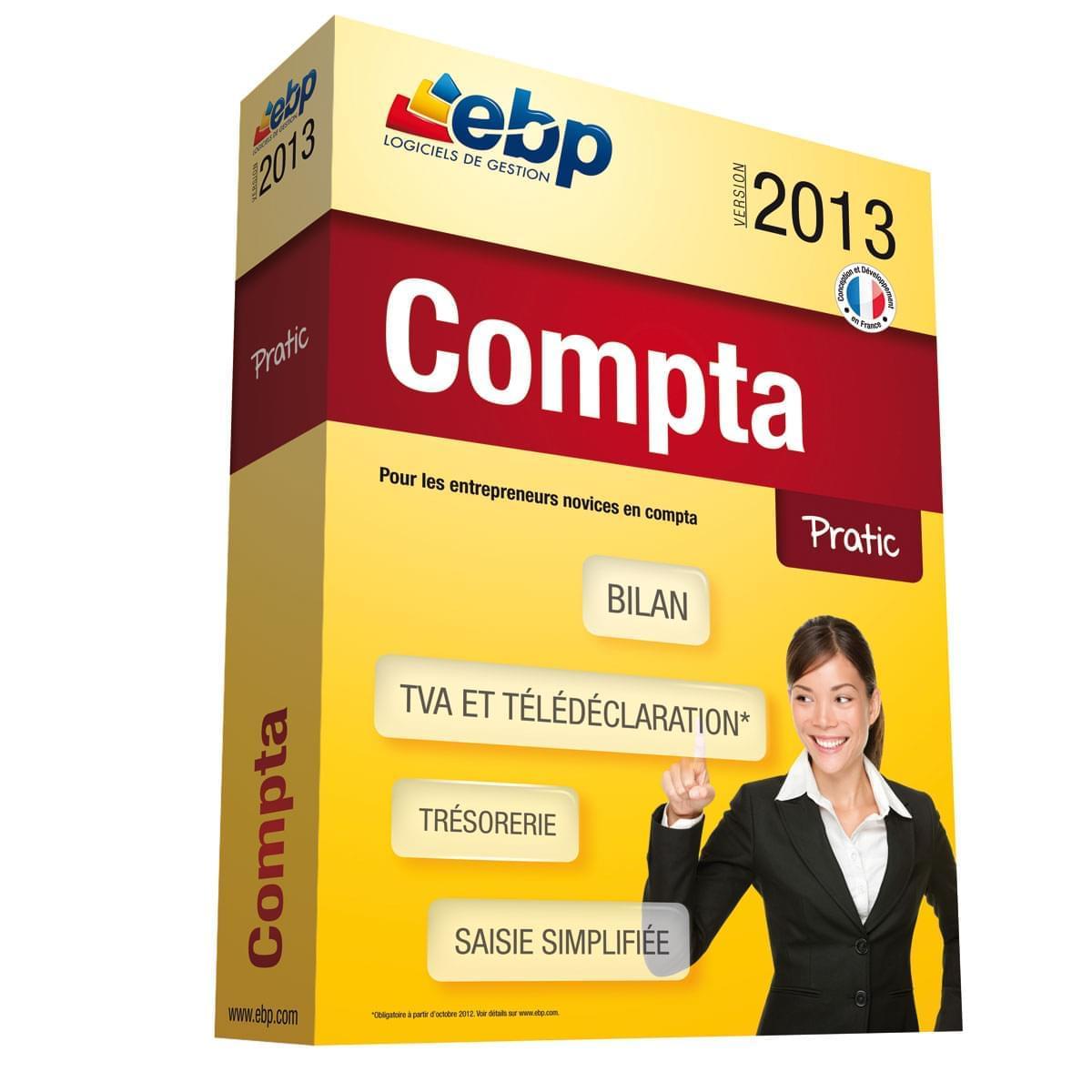 EBP Compta Pratic 2013 (1066E050FAA) - Achat / Vente Logiciel Application sur Cybertek.fr - 0