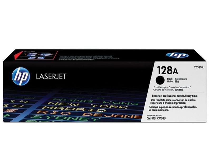 Toner 128A Noir 2000p - CE320A pour imprimante Laser HP - 0