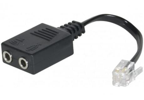 Adaptateur RJ9 vers 2x Jack 3.5mm - Accessoire téléphonie No Name - 0