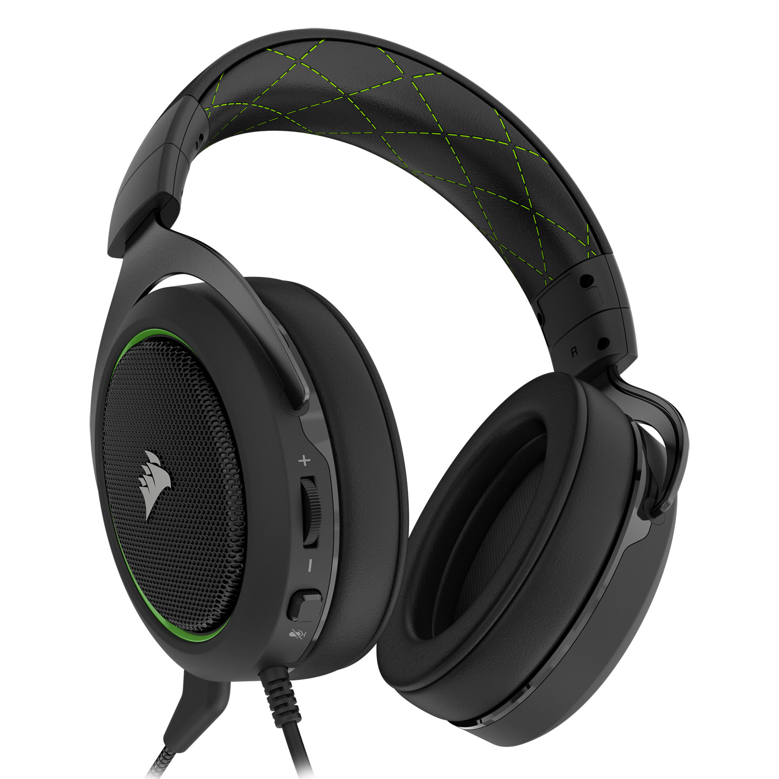 Corsair HS50 Stereo Gaming Headset Green Stereo - Micro-casque - 1