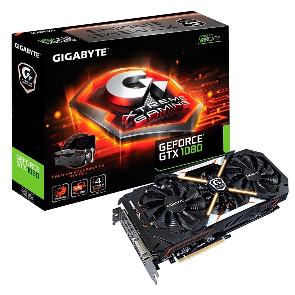 Gigabyte GV-N1080XTREME-8GD - GTX1080/8Go/DVI/HDMI/DP (GV-N1080XTREME-8GD) - Achat / Vente Carte Graphique sur Cybertek.fr - 0