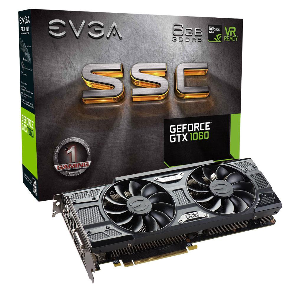 EVGA GTX 1060 SSC Gaming 6267 6Go - Carte graphique EVGA - 0