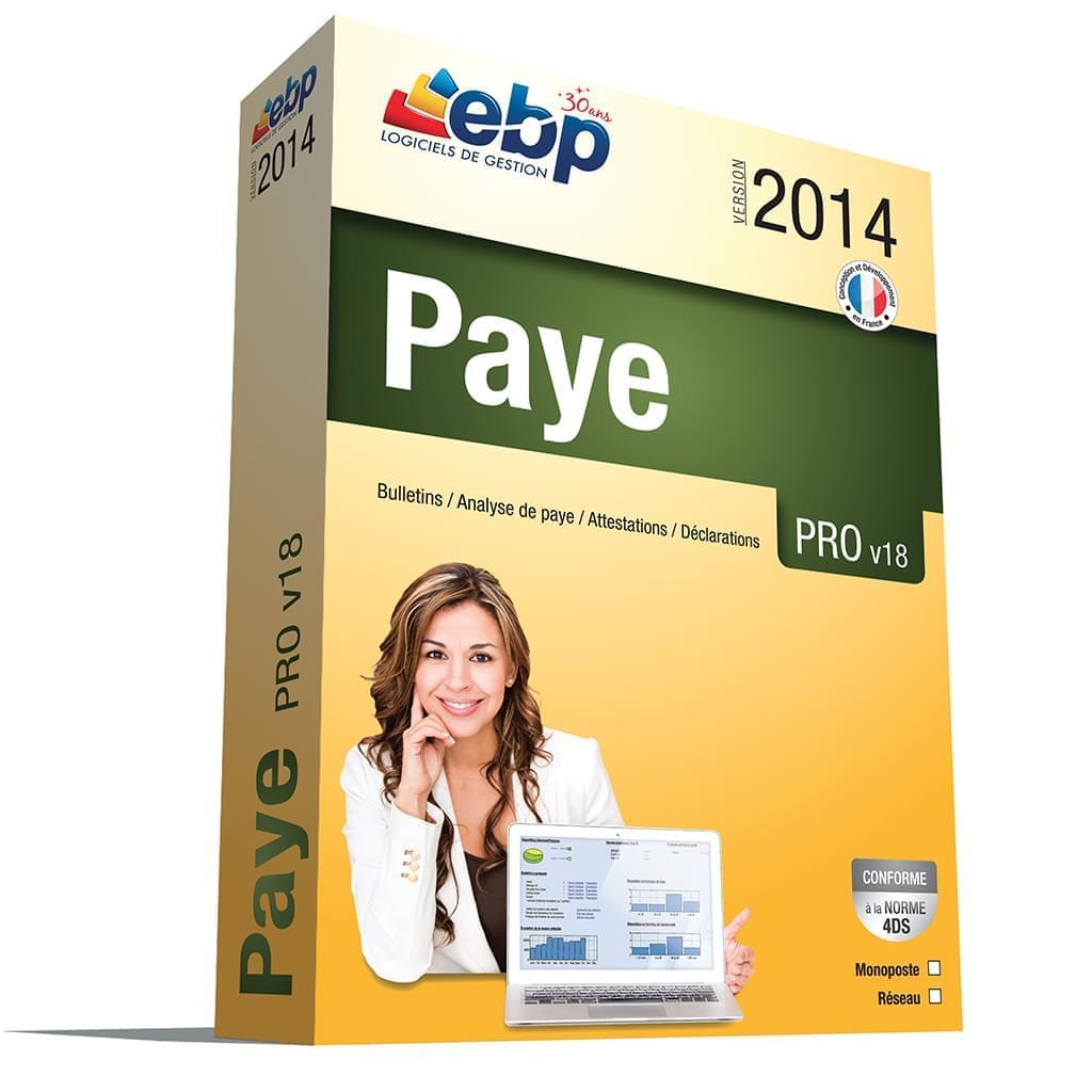 EBP Paye PRO 2014 v18 C++ mono-utilisateur (1020P180FAA) - Achat / Vente Logiciel Application sur Cybertek.fr - 0