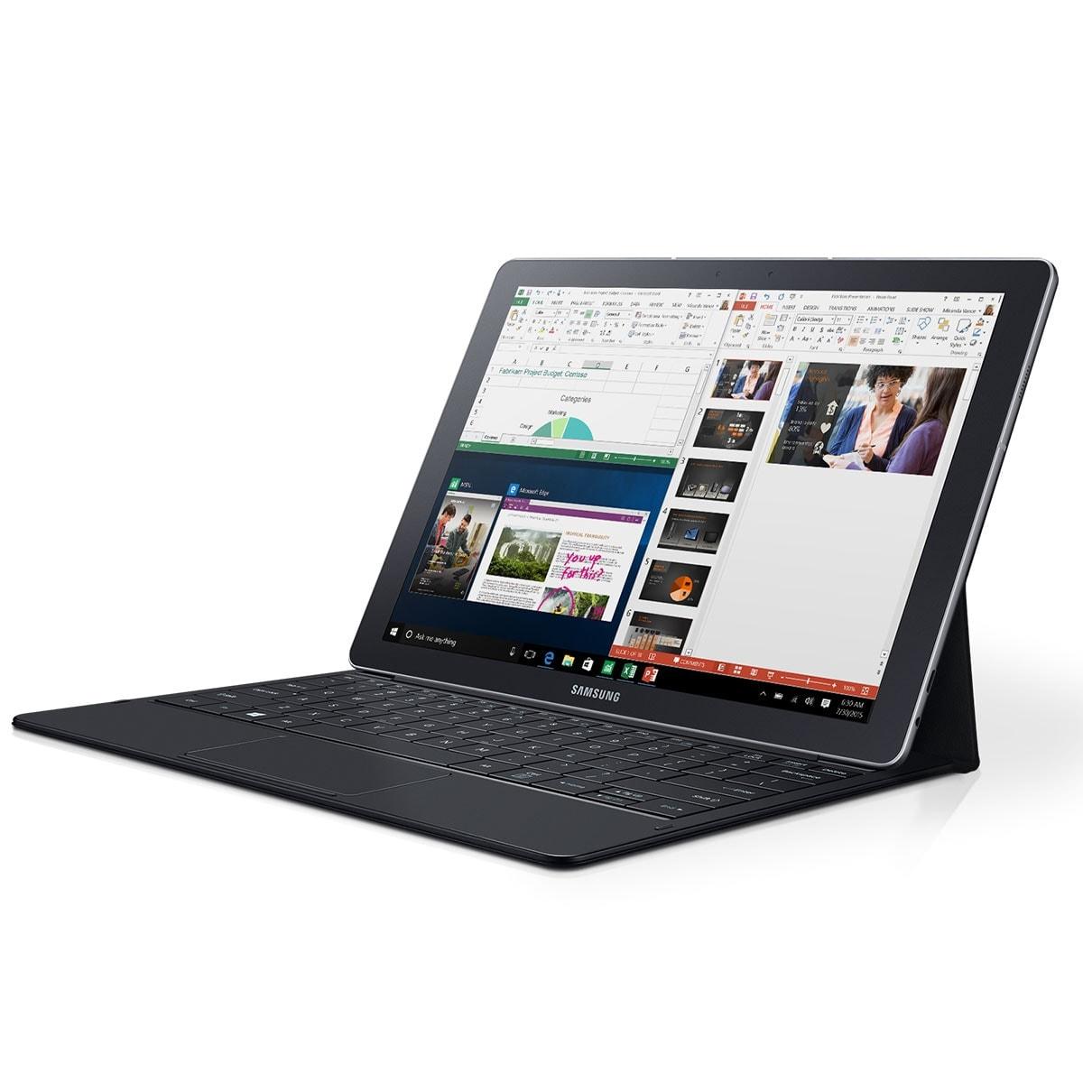 "Samsung Galaxy TabPro S W700 BL -M3-6Y30/4Go/128Go/12""/10 (SM-W700NZKAXEF) - Achat / Vente PC Portable sur Cybertek.fr - 0"