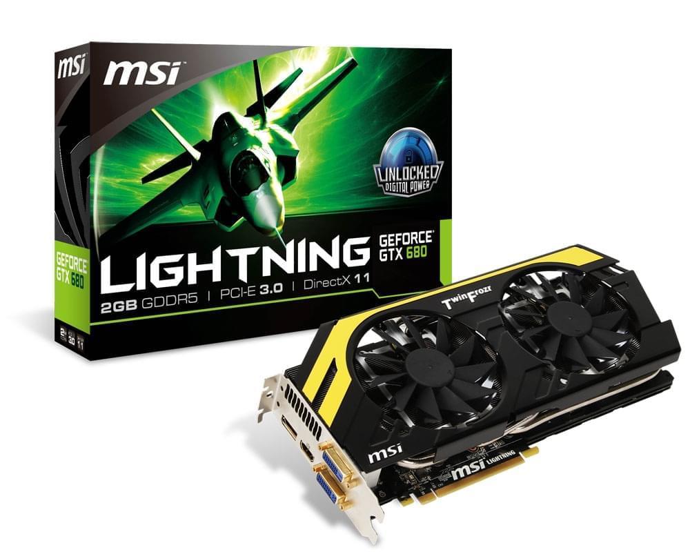 MSI GF GTX 680 Lightning (N680GTX LIGHTNING) - Achat / Vente Carte Graphique sur Cybertek.fr - 0