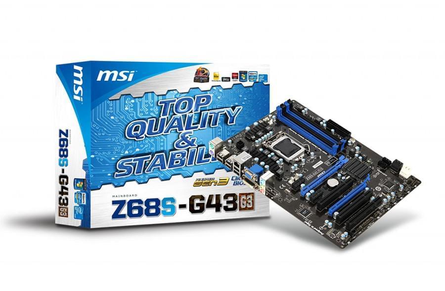 MSI Z68S-G43 (G3) (Z68S-G43(G3)) - Achat / Vente Carte Mère sur Cybertek.fr - 0