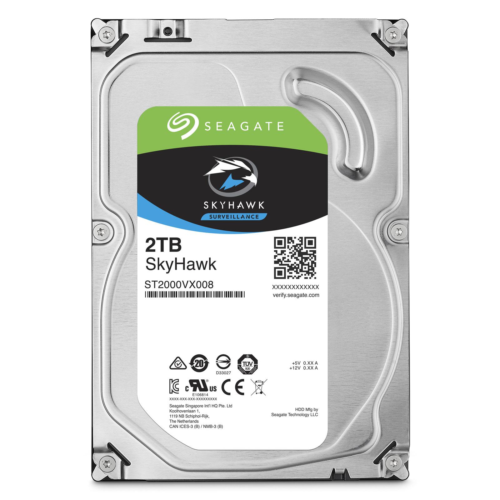 """Seagate 2To SATA III 64Mo SkyHawk ST2000VX008 - Disque dur interne 3.5"""" - 0"""