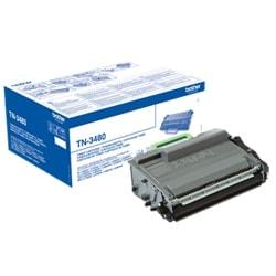 Toner Noir rendement élevé 8000 pages - TN3480 pour imprimante  Brother - 0