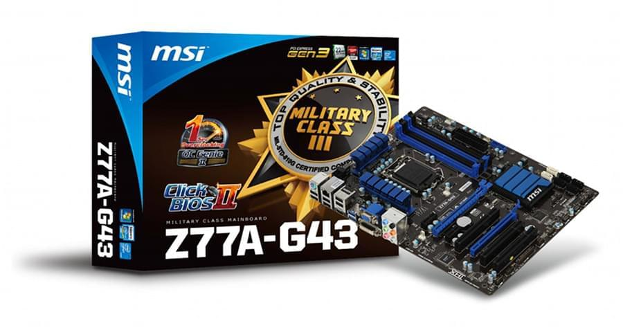 MSI Z77A-G43 (Z77A-G43) - Achat / Vente Carte mère sur Cybertek.fr - 0