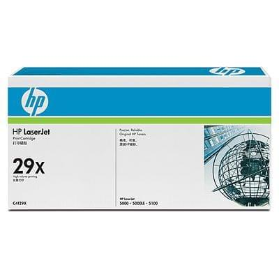 Toner 29X Noir 10000p - C4129X pour imprimante Laser HP - 0