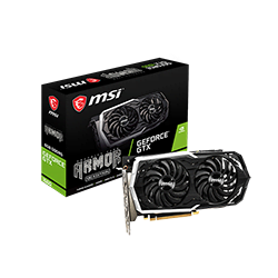 image produit MSI GTX 1660 Ventus XS 6G OC - 1660/6Go/HDMI/DP Cybertek