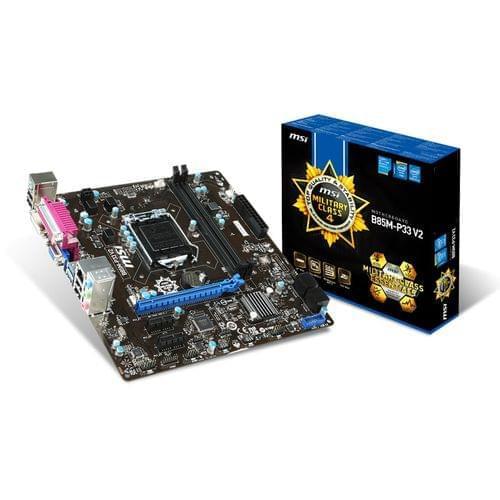 MSI B85M-P33 V2 (B85M-P33 V2) - Achat / Vente Carte mère sur Cybertek.fr - 0