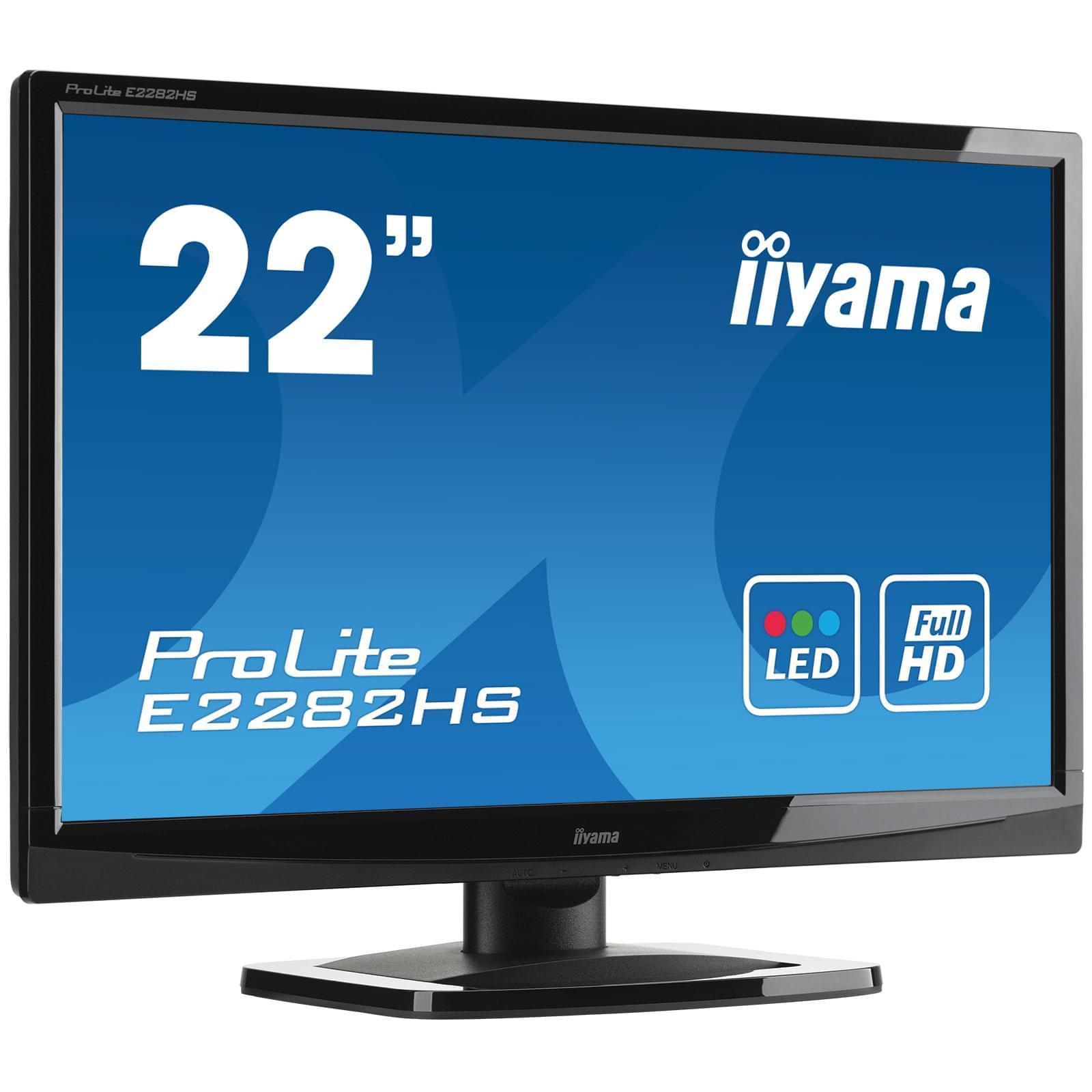 Iiyama E2282HS-GB1 (E2282HS-GB1) - Achat / Vente Ecran PC sur Cybertek.fr - 0