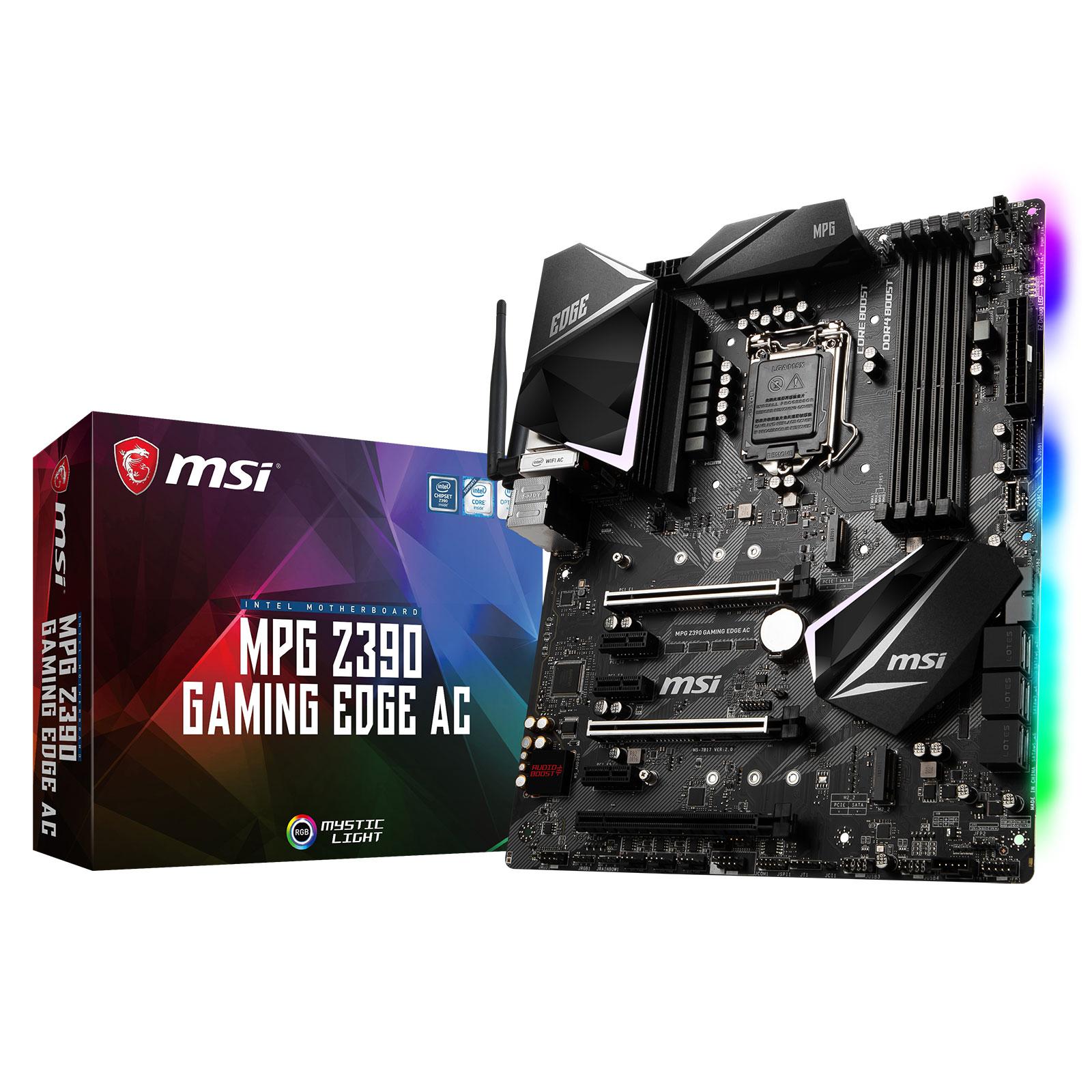 MSI Z390 GAMING EDGE AC ATX DDR4 - Carte mère MSI - Cybertek.fr - 0