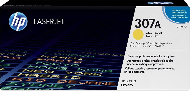 HP Toner 307A Jaune 7300p (CE742A) - Achat / Vente Consommable Imprimante sur Cybertek.fr - 0