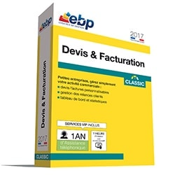 EBP Logiciel Application Devis & Facturation Classic 2017 VIP +Satis./remb. Cybertek
