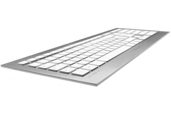 Clavier PC Cherry Strait Argent - multimedia ultra plat - 0
