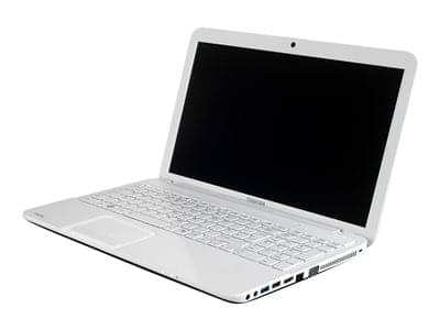 Toshiba C855-20M Blanc (PSCBWE-07500PFR) - Achat / Vente PC Portable sur Cybertek.fr - 0