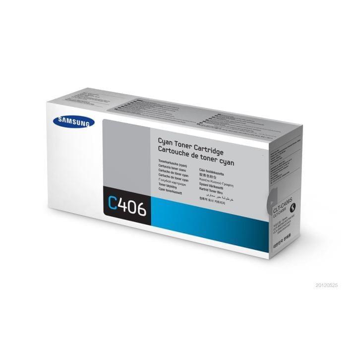 Toner CLT-C406S Cyan pour imprimante Laser Samsung - 0