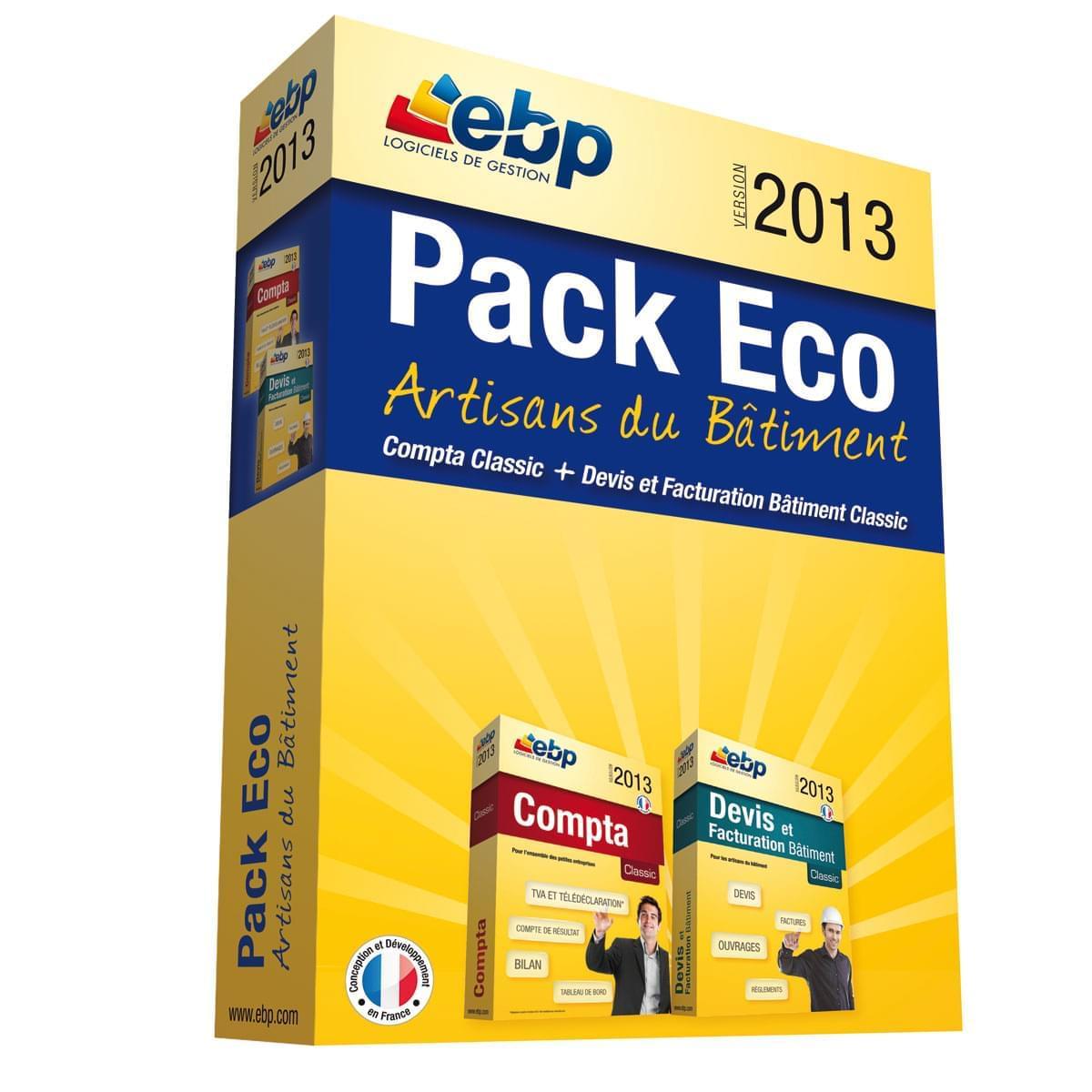 EBP Pack Eco Artisans du Bâtiment 2013 (1166J050FAG) - Achat / Vente Logiciel Application sur Cybertek.fr - 0