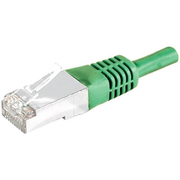 Cordon Cat.6A S/FTP Vert - 2m - Connectique réseau - Cybertek.fr - 0