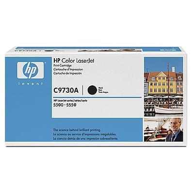 Toner C9730A Noir 13000p pour imprimante Laser HP - 0
