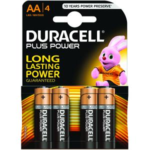 Lot de 4 Piles Alcaline 1,5V LR06 - Plus Power AA  - Pile Duracell - 0