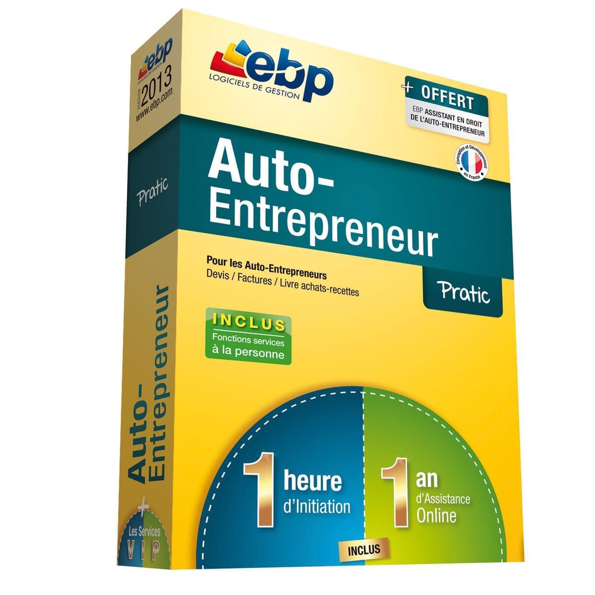 EBP Auto-Entrepreneur Pratic 2013  + Services VIP (1108E051FAA) - Achat / Vente Logiciel Application sur Cybertek.fr - 0